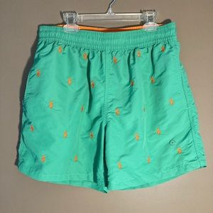 NWOT Polo Ralph Lauren green orange logo shorts
